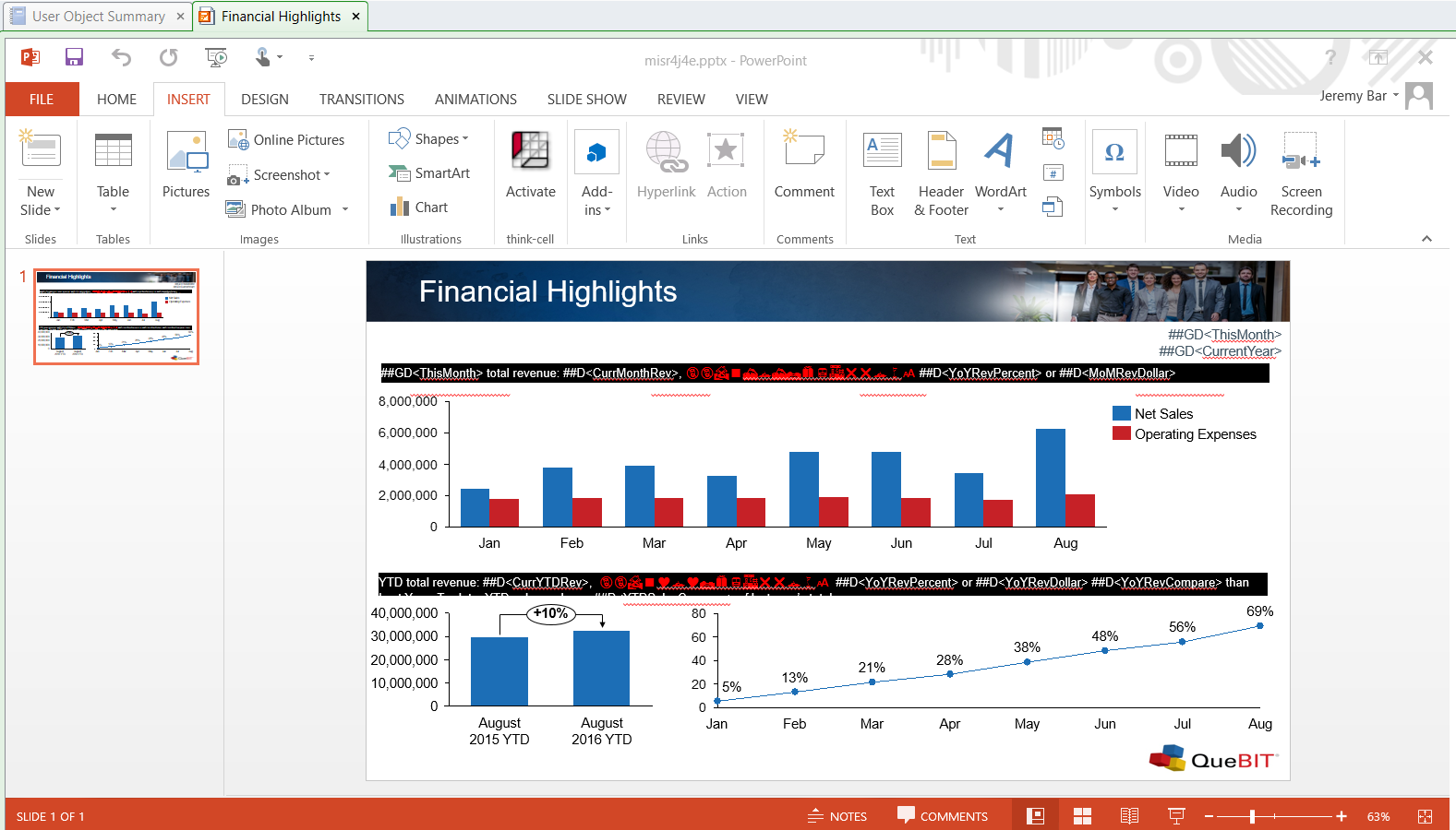 screenshot of typical cognos disclosure management set up