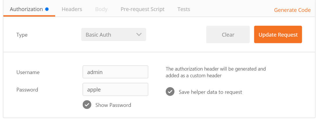 TM1 Login credentials screenshot