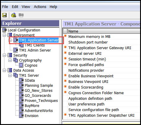 make sure Tm1 application server is turned off