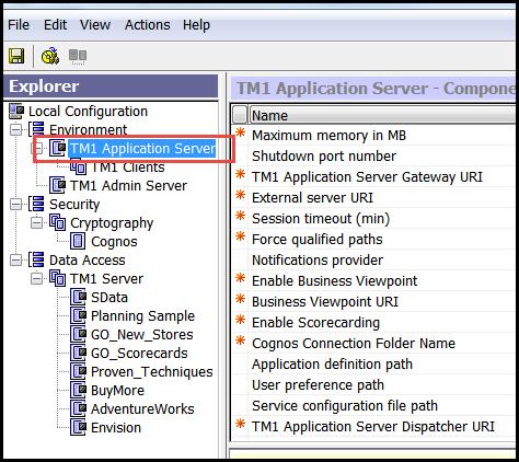 make sure Tm1 application server is turned off